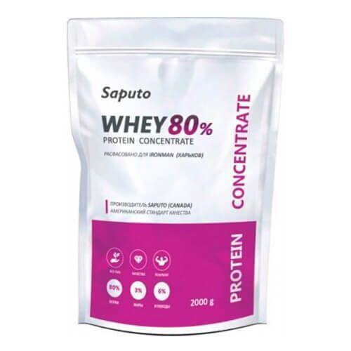 Протеин, Saputo Whey Concentrate 80% 2000 грамм, Банан