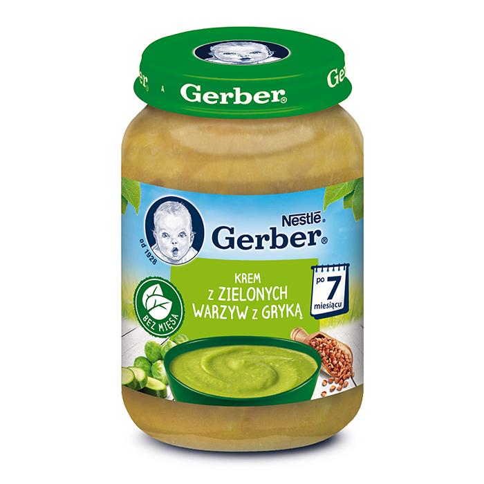Суп-пюре Gerber з зеленими овочами та гречкою, 7+, 190г