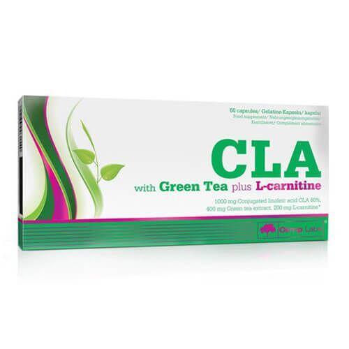 Жиросжигатель, Olimp CLA with Green Tea Plus L-carnitine 60 капсул