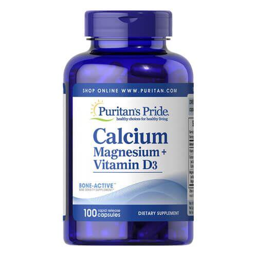 Puritan's Pride Calcium Magnesium plus Vitamin D3 100 капсул