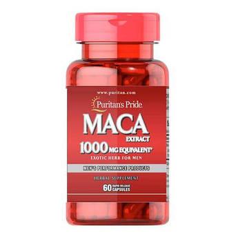 Puritan'sPride Maca 1000 mg Exotic Herb for Men60 капсул