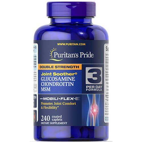 Puritan's Pride Glucosamine Chondroitin MSM Double Strength 240 таб