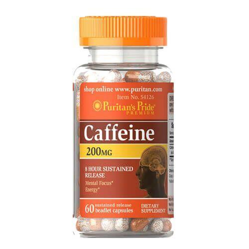 Кофеин, Puritan's Pride Caffeine 200 mg 60 капсул