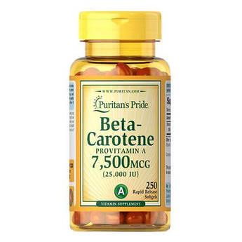 Puritan's Pride Beta-Carotene 25000 IU 100 капсул