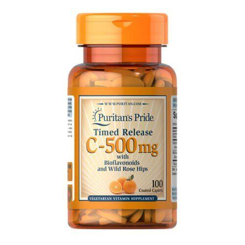 Puritan's Pride Vitamin C 500 mg with Rose Hips Time Release 100 таб