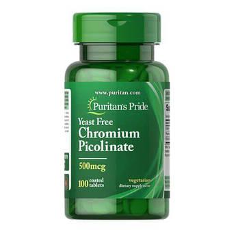 Puritan's Pride Chromium Picolinate 500 mcg 100 таб