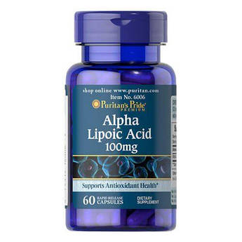 Puritan's Pride Alpha Lipoic Acid 100 mg 60 капсул