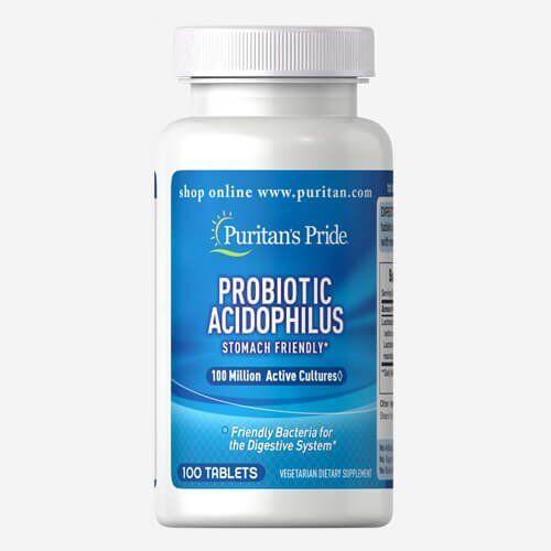 Puritan's Pride Probiotic Acidophilus 100 капсул