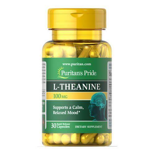 Теанин, Puritan's Pride L-Theanine 200 mg 30 капсул
