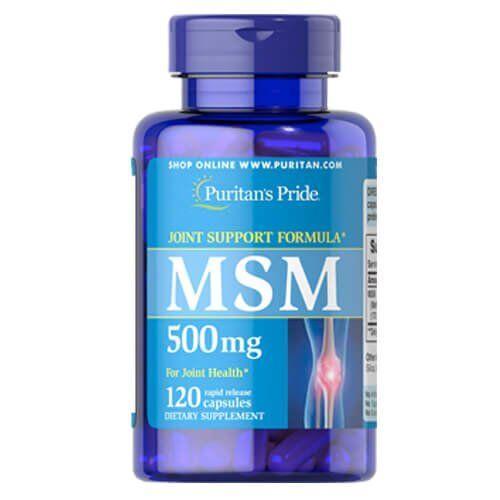 Комплекс для суставов и связок, Puritan's Pride MSM 500 mg 120 капсул