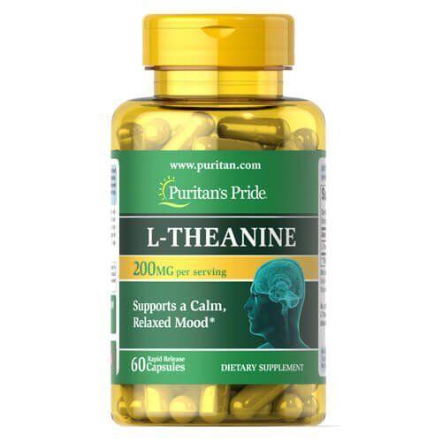 Теанин, Puritan's Pride L-Theanine 200 mg 60 капсул