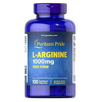 Аргинин, Puritan's Pride L-Arginine 1000 mg 100 капсул