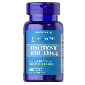 Puritan's Pride Hyaluronic Acid 100 mg 60 капсул