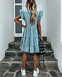 Женское платье летний сарафан в горох супер софт размеры: 50-52, 54-56, фото 4