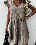 Женское платье летний сарафан в горох супер софт размеры: 50-52, 54-56, фото 3