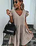 Женское платье летний сарафан в горох супер софт размеры: 50-52, 54-56, фото 6