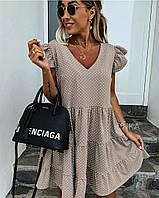 Женское платье летний сарафан в горох супер софт размеры: 50-52, 54-56