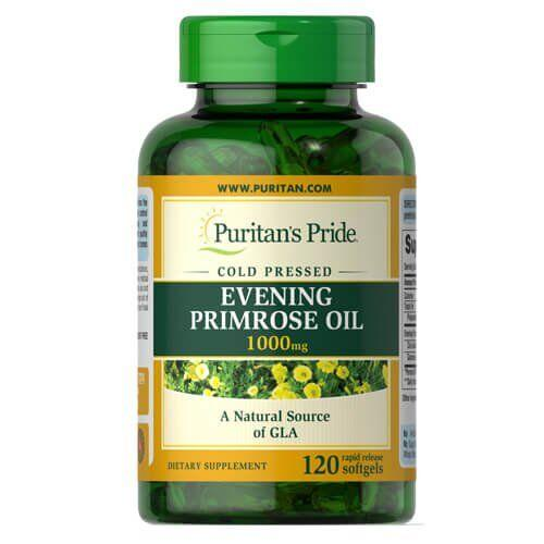 Puritan's Pride Evening Primrose Oil 1000 mg with GLA 120 капсул