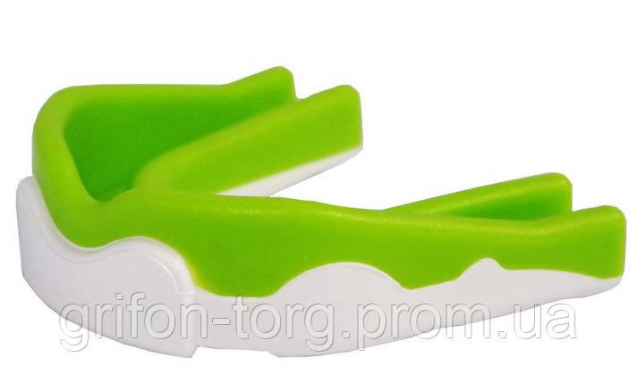 Капа боксерська PowerPlay 3302  JR Зелено-Біла, фото 2
