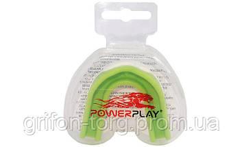 Капа боксерська PowerPlay 3302  JR Зелено-Біла, фото 3