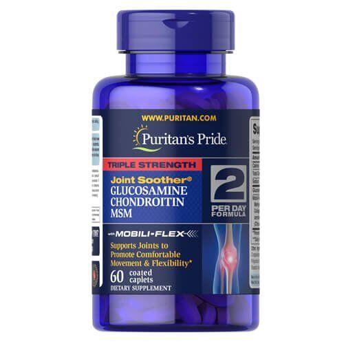 Puritan's Pride Triple Strength Glucosamine, Chondroitin MSM 60 таб