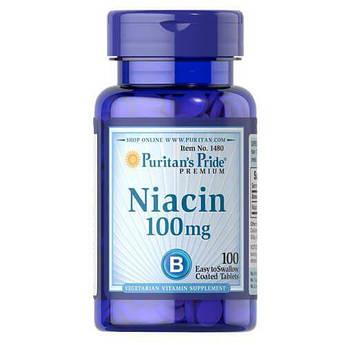 Puritan's Pride Niacin 100 mg 100 таб