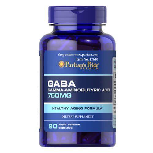 Puritan's Pride GABA 750 mg 90 капсул