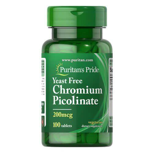 Puritan's Pride Chromium Picolinate 200 mcg 100 таб