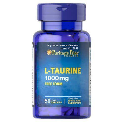 Таурин, Puritan's Pride Taurine 1000 mg 50 таб