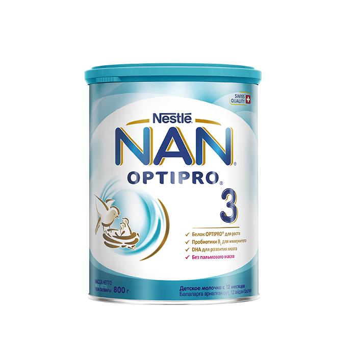 Молочна суміш NAN Optipro 3, 12+, 800г