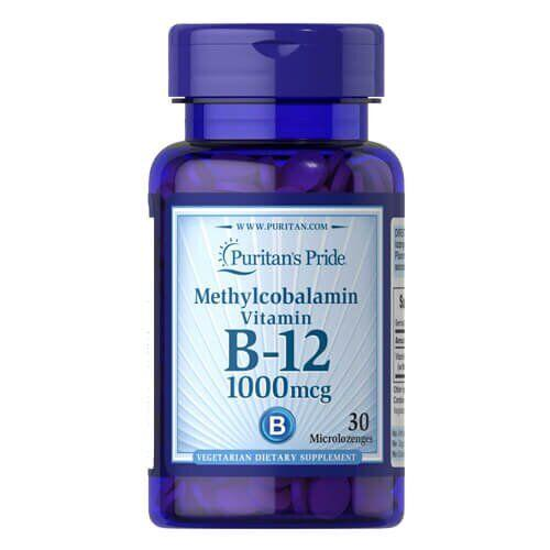 Витамин B12,Puritan's Pride Methylcobalamin Vitamin B-12 1000 mcg 30 капсул