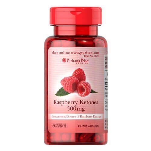 Кетоны малины, Puritan's Pride Raspberry Ketones 500 mg 60 капсул