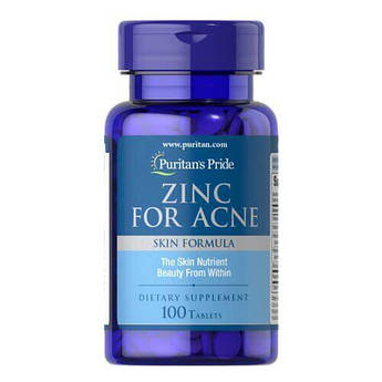 Puritan's Pride Zinc for Acne 100 таб