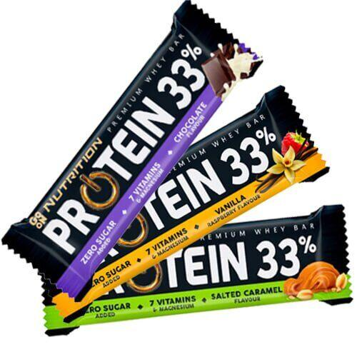 Протеиновый батончик GO ON PROTEIN 33% 50 грамм, Ваниль-Малина