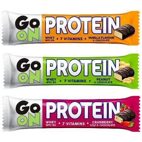 Протеин, Батончик GO ON Bar 20% 50 грамм, Орех