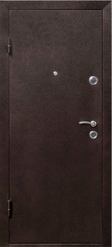 Дверь входная СТРАЖ Метал/МДФ Венге Левая 86смХ2050см №271 порошковая покраска ДОСТАВКА БЕСПЛАТНАЯ до подъезда