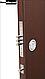 Дверь входная СТРАЖ Метал/МДФ Венге Левая 86смХ2050см №271 порошковая покраска ДОСТАВКА БЕСПЛАТНАЯ до подъезда, фото 3