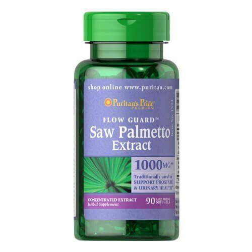 Экстрактплодов пальмысабала. Puritan'sPride Saw Palmetto Extract 90 капсул
