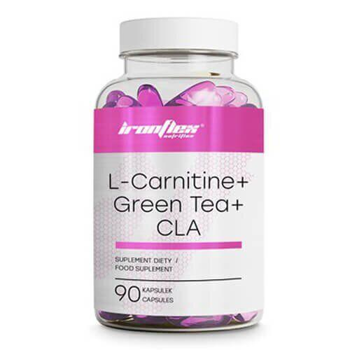 Жиросжигатель, IronFlex L-Carnitine, Green Tea & CLA 90 таб