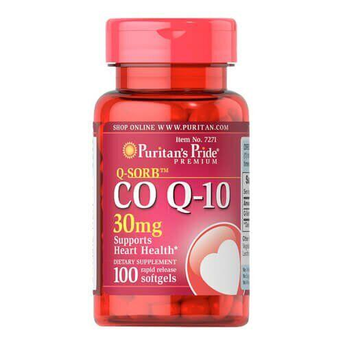 Puritan's PrideQ-SORB Co Q-10 30 mg 100 капсул