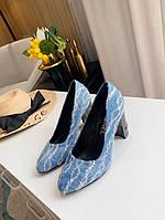 Туфли Chanel Голубые