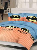 Комплект детского постельного белья Бетмен синего цвета