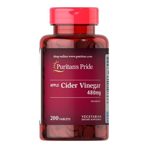 Puritan's Pride Apple Cider Vinegar 480 mg 200 таб