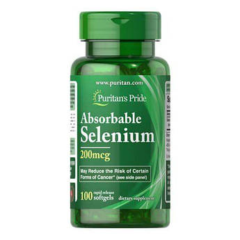 Puritan'sPrideAbsorbableSelenium 200 mcg 100 капсул