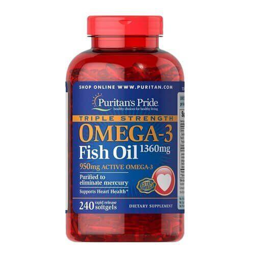 Puritan's Pride Triple Strength Omega-3 1360 mg 240 капсул
