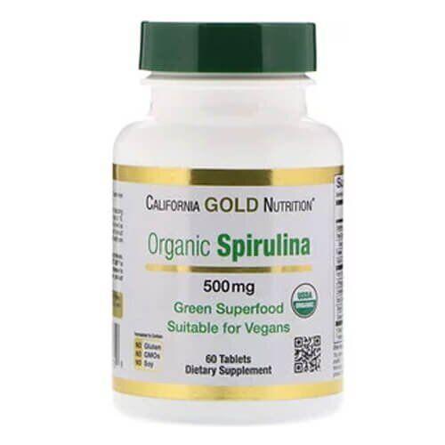 California Gold Nutrition Spirulina 60 таб