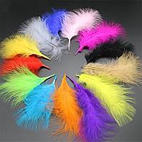 Перья марабу (цвет на выбор) 10-15см,