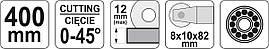 Плиткорез 400мм YATO YT-37034, фото 2