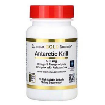 California Gold Nutrition Antarctic Krill Oil 500 mg 30 гелевых капсул