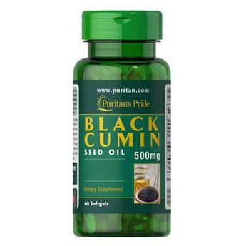 Масло черного тмина, Puritan's Pride Black Cumin Seed Oil 500 mg 60 жидких капсул